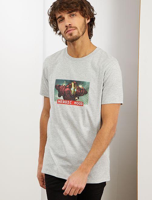 Maglietta 'Iron Man'                                         GRIGIO