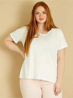 T-shirt basic - Maglietta jersey collo a V - Kiabi