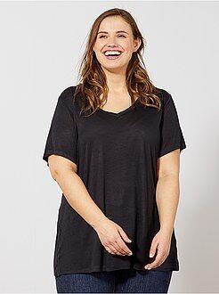 Magliette maniche corte - Maglietta jersey collo a V - Kiabi