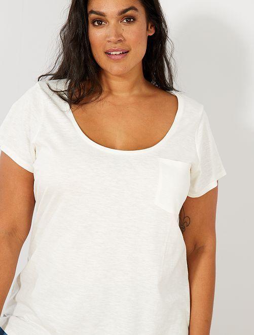 Maglietta jersey fiammato                                                                                             bianco neve Taglie forti donna