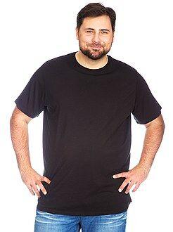 Magliette - Maglietta jersey girocollo taglie forti