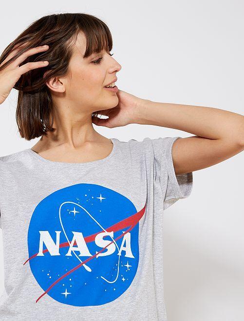 Maglietta jersey 'La Nasa'                             grigio Donna