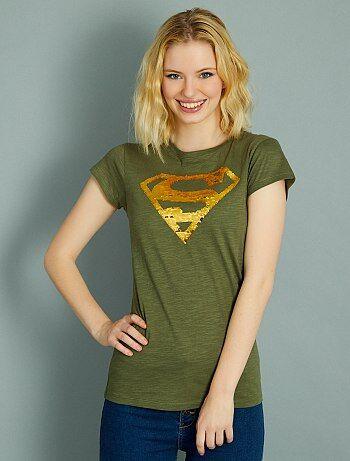 Maglietta lustrini reversibili 'Superman' - Kiabi