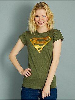 Magliette maniche corte - Maglietta lustrini reversibili 'Superman'