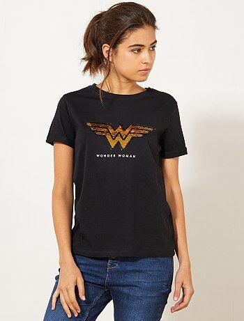 Maglietta lustrini 'Wonder Woman' - Kiabi