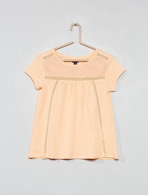 Maglietta macramè                                                     ARANCIONE Infanzia bambina
