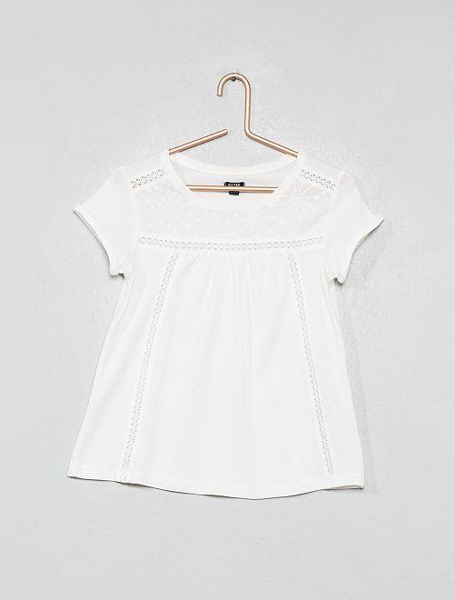 Maglietta macramè                                                         bianco neve Infanzia bambina