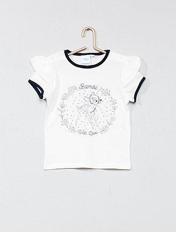 Bambina 0-36 mesi - Maglietta maniche con volant 'Bambi' - Kiabi