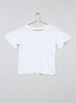 Bambina 10-18 anni - Maglietta maniche con volant - Kiabi