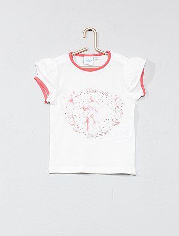 Bambina 0-36 mesi - Maglietta maniche con volant 'Campanellino' - Kiabi