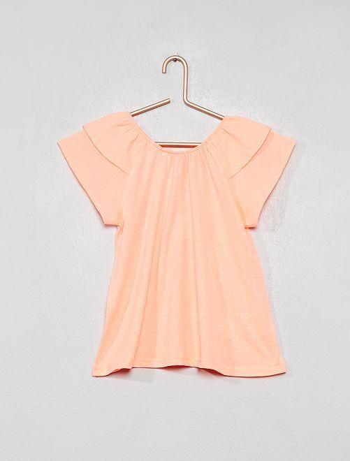Maglietta maniche con volant                             ROSA Infanzia bambina