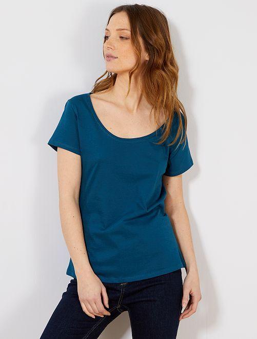 Maglietta maniche corte                                                                                                                                         blu anatra Donna