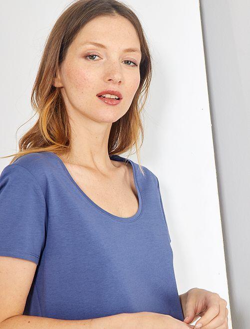 Maglietta maniche corte                                                                                                                                         blu indaco