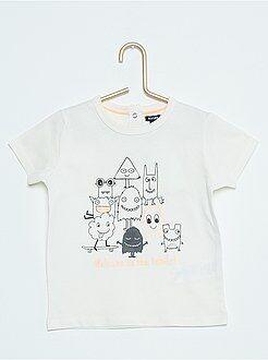 T-shirt - Maglietta maniche corte stampa 'Piccoli mostri'