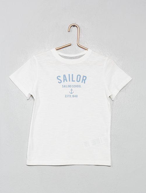 Maglietta marinara 'eco-design'                                         bianco