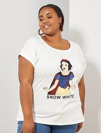 c5dfa20e51 T-shirt con stampa Taglie forti donna | bianco | Kiabi