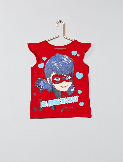 Maglietta 'Miraculous'                             rosso Infanzia bambina