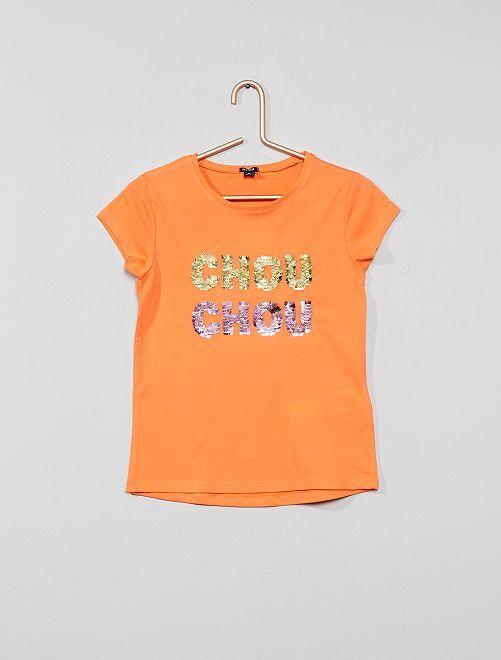 Maglietta paillette reversibili                                                                 ROSA Infanzia bambina