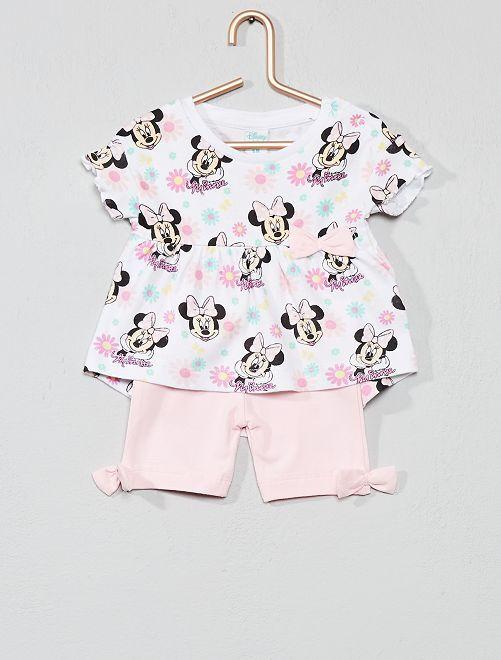 Maglietta + pantaloncini 'Minnie'                     ROSA Neonata