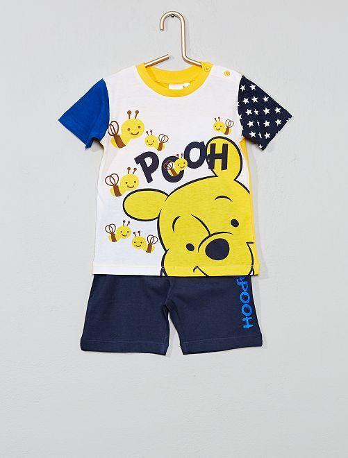 Maglietta + pantaloncini 'Winnie'                     blu/giallo Neonato