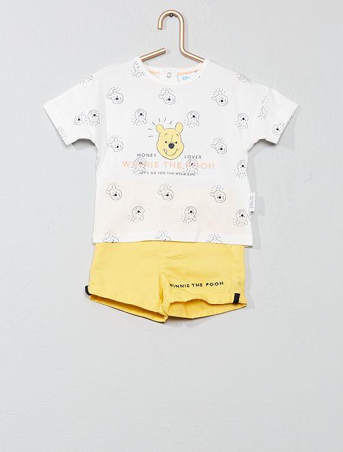 Maglietta + pantaloncini 'Winnie'                             GIALLO Neonato
