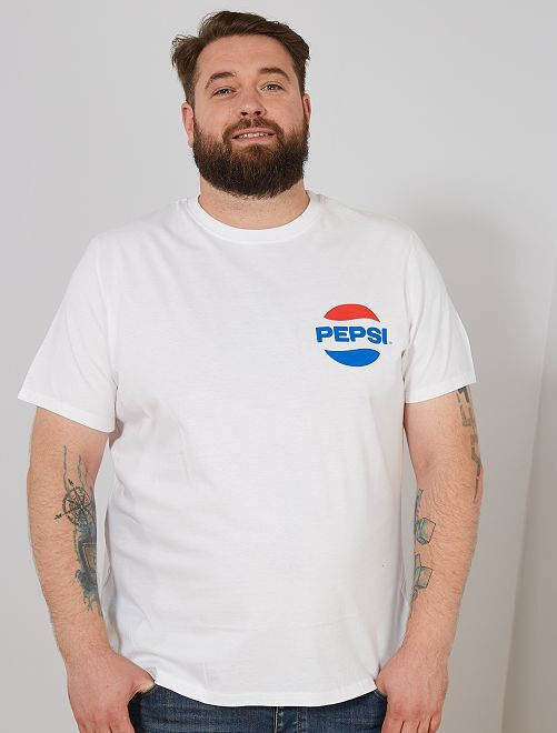 Maglietta 'Pepsi'                             bianco