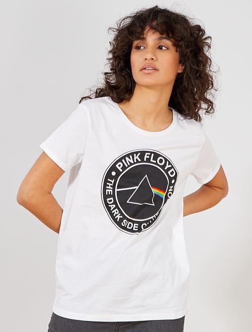 Maglietta 'Pink Floyd'                             bianco