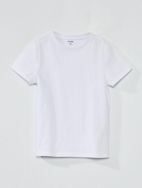 Maglietta puro cotone bio                                             bianco