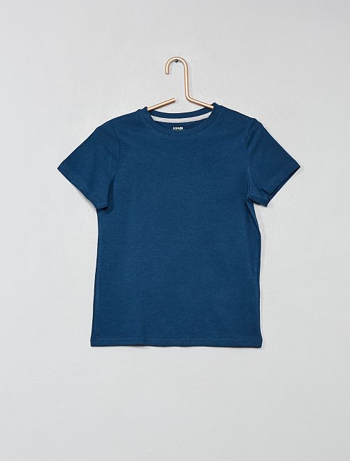 Maglietta puro cotone bio                                                                                                                 BLU Infanzia bambino