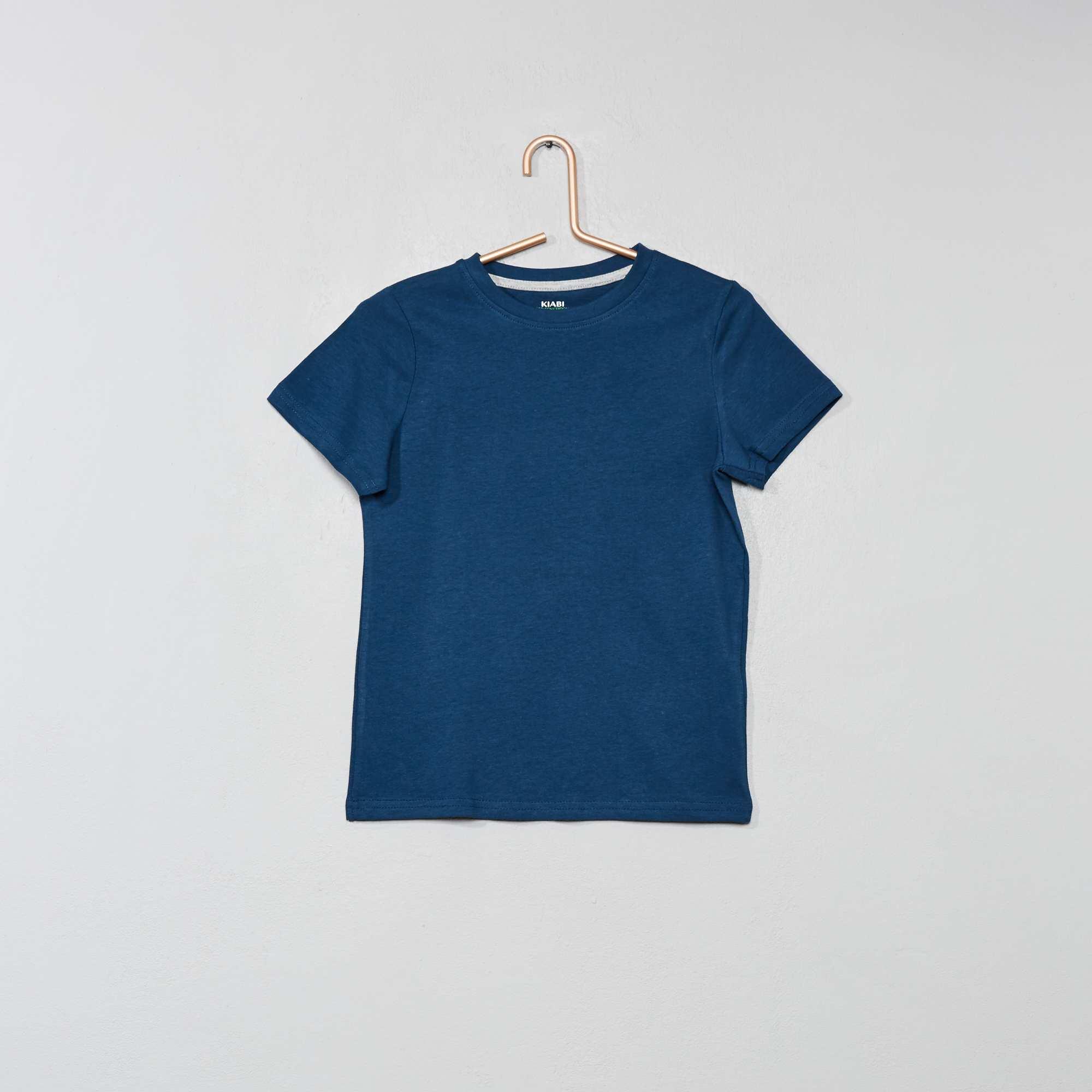 ab5422b71c7d Maglietta puro cotone bio Infanzia bambino - BLU - Kiabi - 1,00€