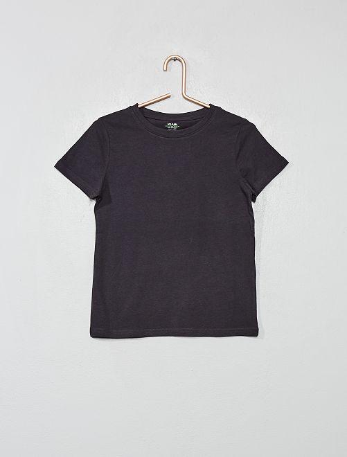 Maglietta puro cotone bio                                                                                         grigio scuro