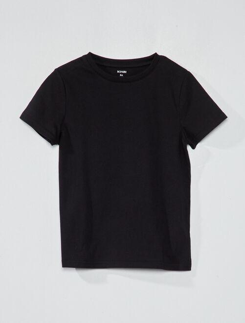 Maglietta puro cotone bio                                                                                                     nero Infanzia bambino