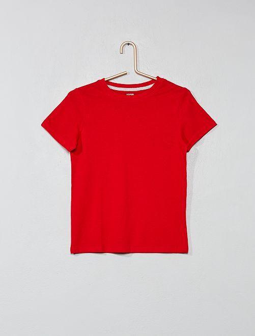 Maglietta puro cotone bio                                                                 ROSSO Infanzia bambino