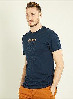 Magliette - Maglietta regular con stampa + 1 m 90 - Kiabi