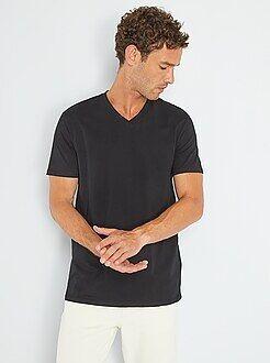 Magliette - Maglietta regular cotone collo a V - Kiabi