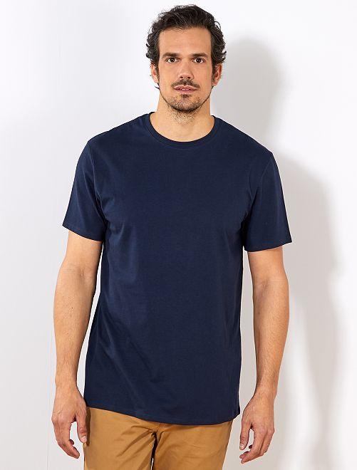 Maglietta regular puro cotone + 1 m 90                                                     blu