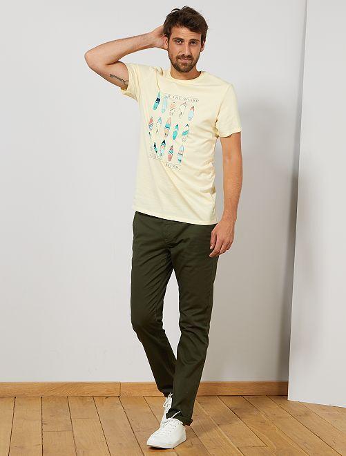 Maglietta regular stampa eco-design +1 m 90                                                     GIALLO