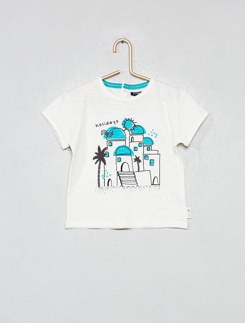 Maglietta ricamo città                             BIANCO Neonato