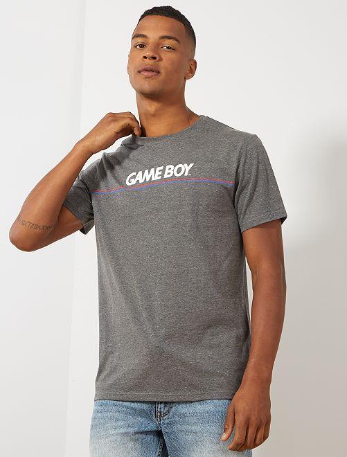 Maglietta ricamo 'Game Boy'                             GRIGIO Uomo