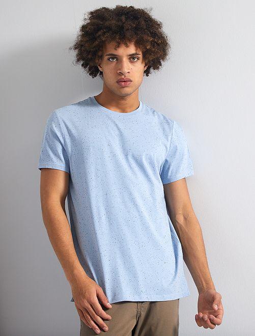 Maglietta screziata 'eco-design'                                 BLU
