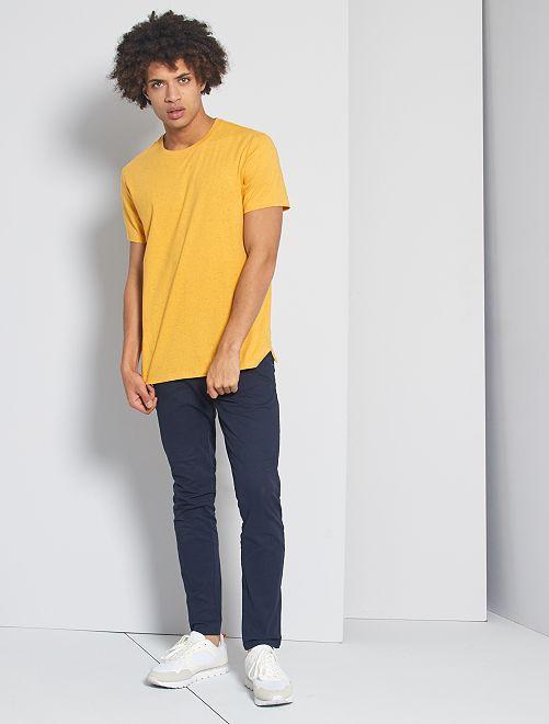 Maglietta screziata 'eco-design'                                                                 GIALLO