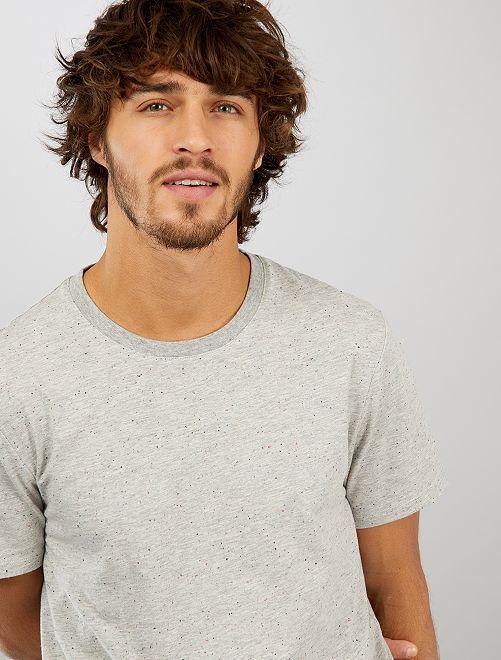 Maglietta screziata 'eco-design'                                                                 GRIGIO