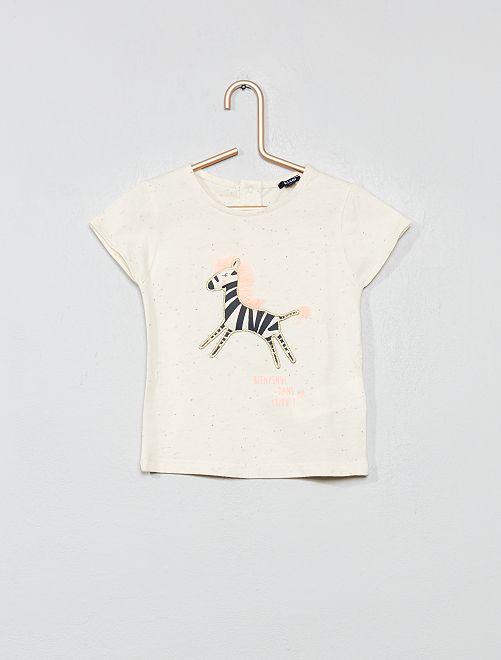 Maglietta screziata 'zebra'                             BIANCO Neonata