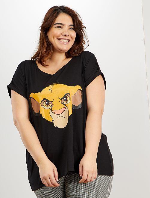 Maglietta 'Simba' 'Disney'                                                                                                                                         NERO