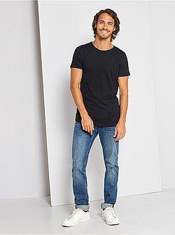 T-shirt, magliette - Maglietta slim fit cotone tinta unita - Kiabi