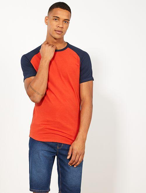 Maglietta slim raglan eco-design                     BLU