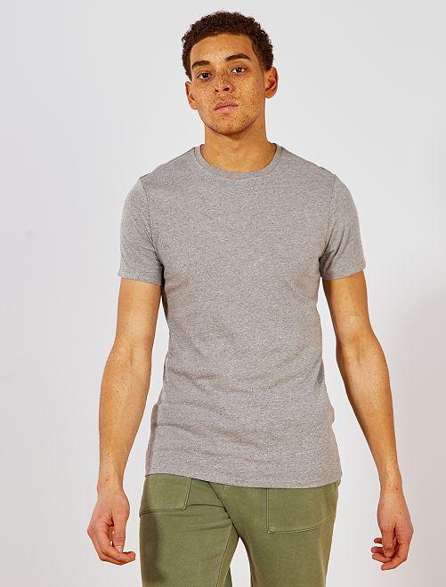Maglietta slim screziata eco-design                                 GRIGIO