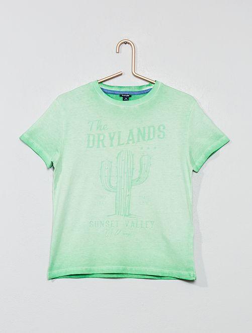 Maglietta stampa 'deserto'                                         VERDE Infanzia bambino