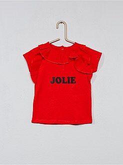 Bambina 0-36 mesi - Maglietta stampa e volant - Kiabi