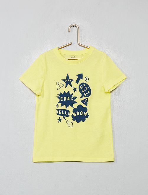Maglietta stampa 'eco-design'                                                                                                     BLU